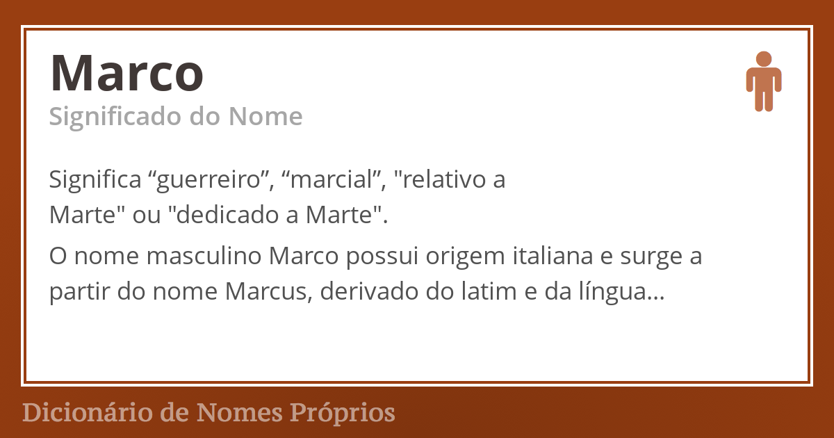 Significado do nome Marco